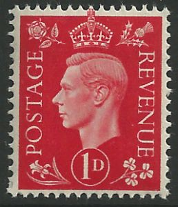 SG463 1d Scarlet Unmounted Mint (George VI 1937 Definitive Stamps)